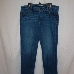ANN TAYLOR LOFT Womens Capri Jeans Sz 10 Cuffed